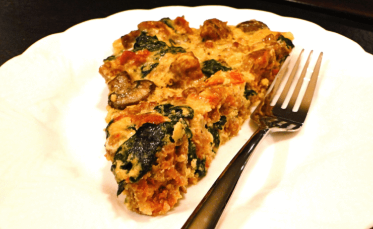 Three Cheese Italian Sausage Frittata Recipe — Dishmaps