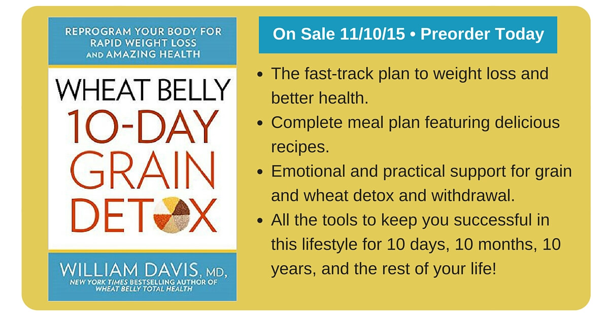 Wheat Belly 10-Day Detox- Tpb (UK IMPORT) BOOK NEW